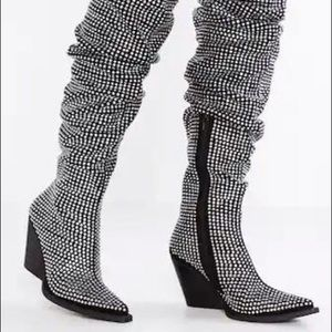 Jeffrey Campbell Controlla Slouch OTK Boot